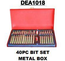 Bit Set 40Pc In a Metal Box - Cape Town Auto Spares
