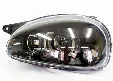Black-Out Side LED Headlights Opel Corsa Set