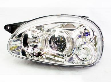Chrome Side LED Headlights Set