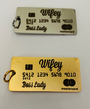 Open image in slideshow, Wifey Credit Card Charm