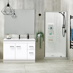 Cashmere Classic Vanity and Sierra Shower