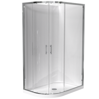 Cezanne Round 2 Sided Sliding Door Acrylic Wall Shower