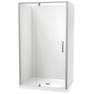 Millennium Rectangle 3 Sided Pivot Door Acrylic Wall Shower