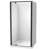 Sierra Square 3 Sided Pivot Door Tiled Wall Shower