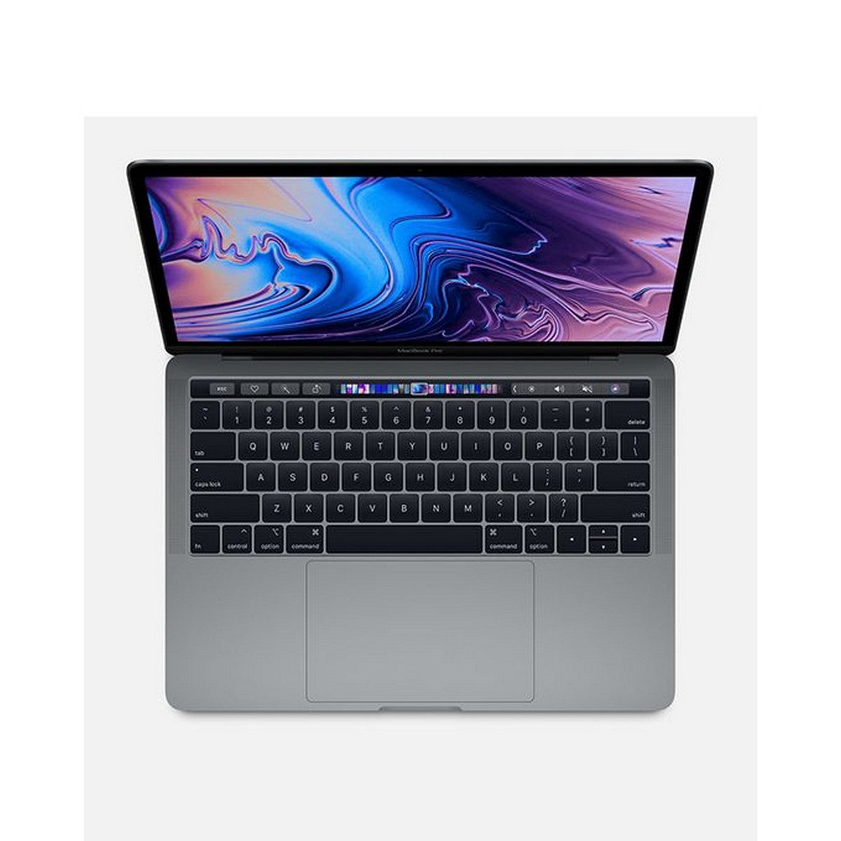 Apple MacBook Pro 13 With Touch Bar Laptop (Mid 2019) 13.3'' Retina display , Intel Core i5 2.4GHz up to 4.1GHz with 128MB of eDRAM, 8GB RAM, Intel Iris P655 GPU, 512GB SSD, Touch ID, Model:MV992LL/A, MacOS, English Keyboard, Silver
