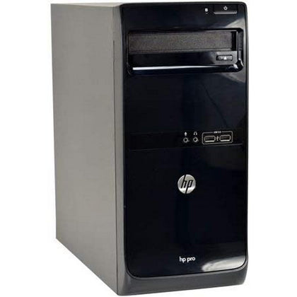 Used HP Pro 3500 Tower Desktop, Intel Core i3 i3-3220, 4GB RAM, 500GB HDD