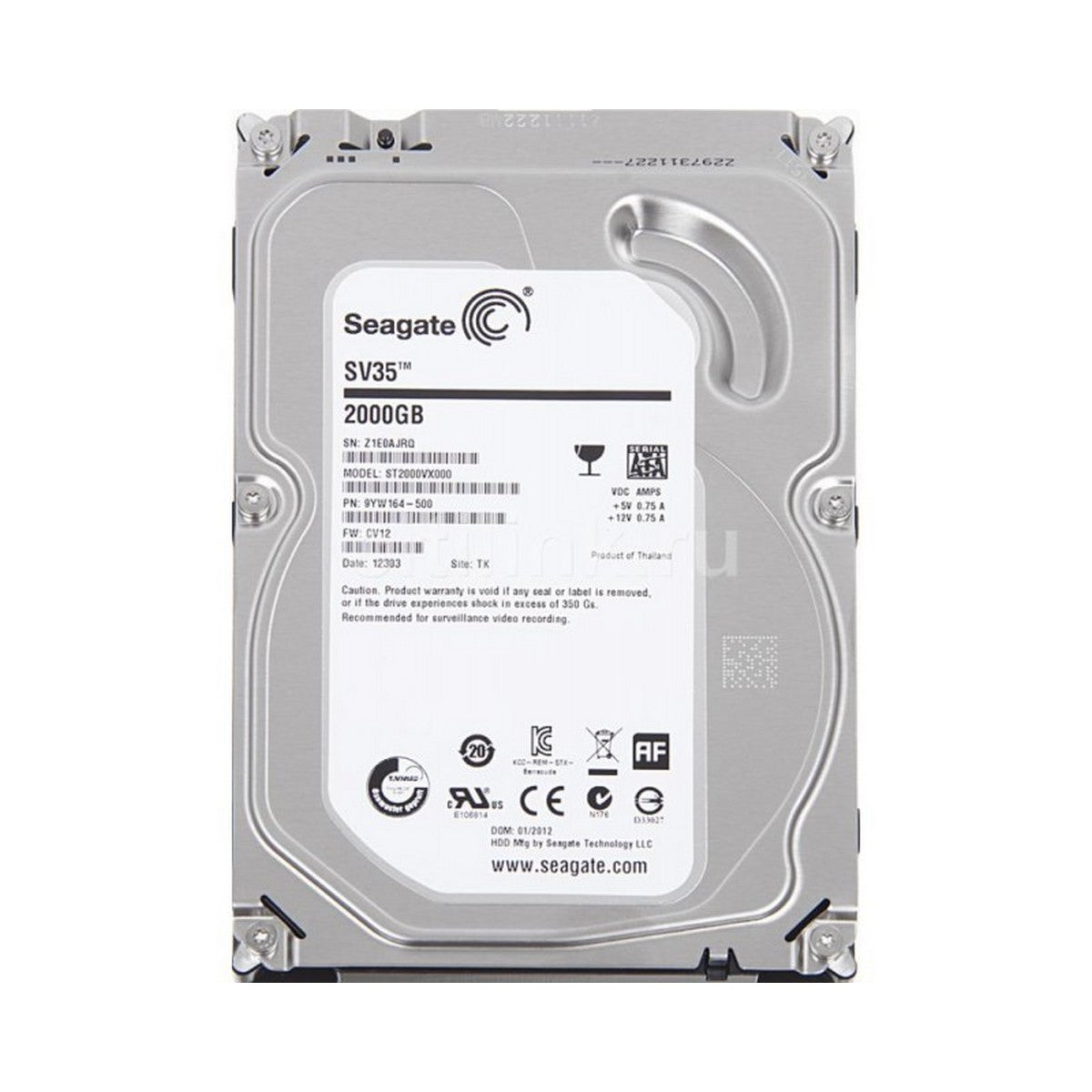 Used Seagate  2TB  HDD