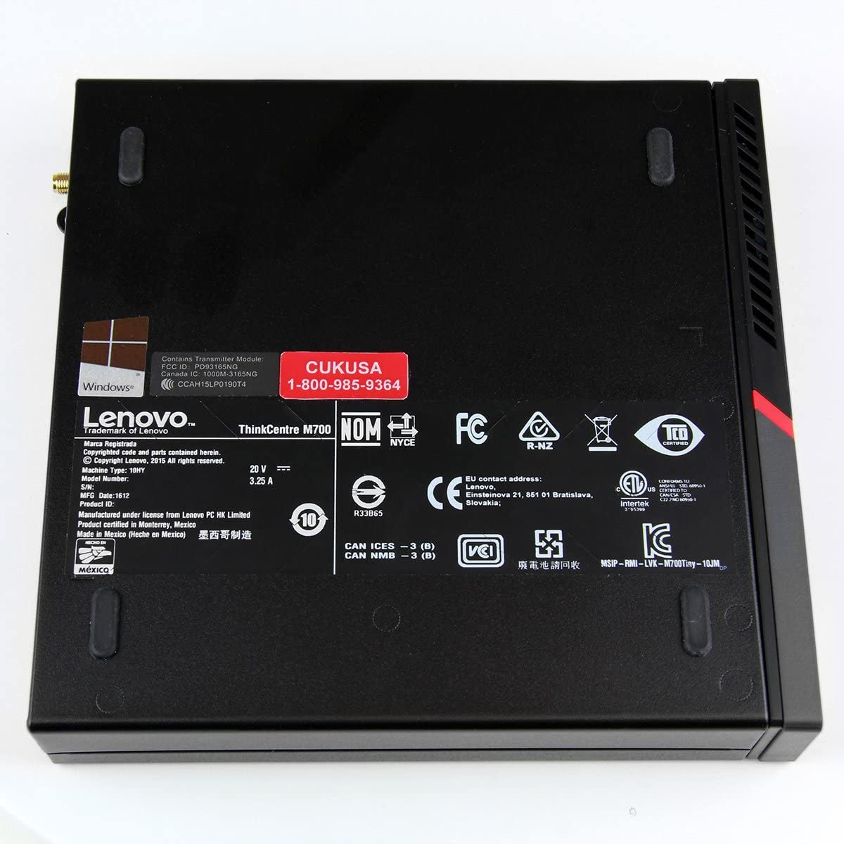 Used Lenovo ThinkCentre M710 Tiny Form Factor Desktop, Intel Core i7 i7-6700, 8GB RAM, 256GB SSD