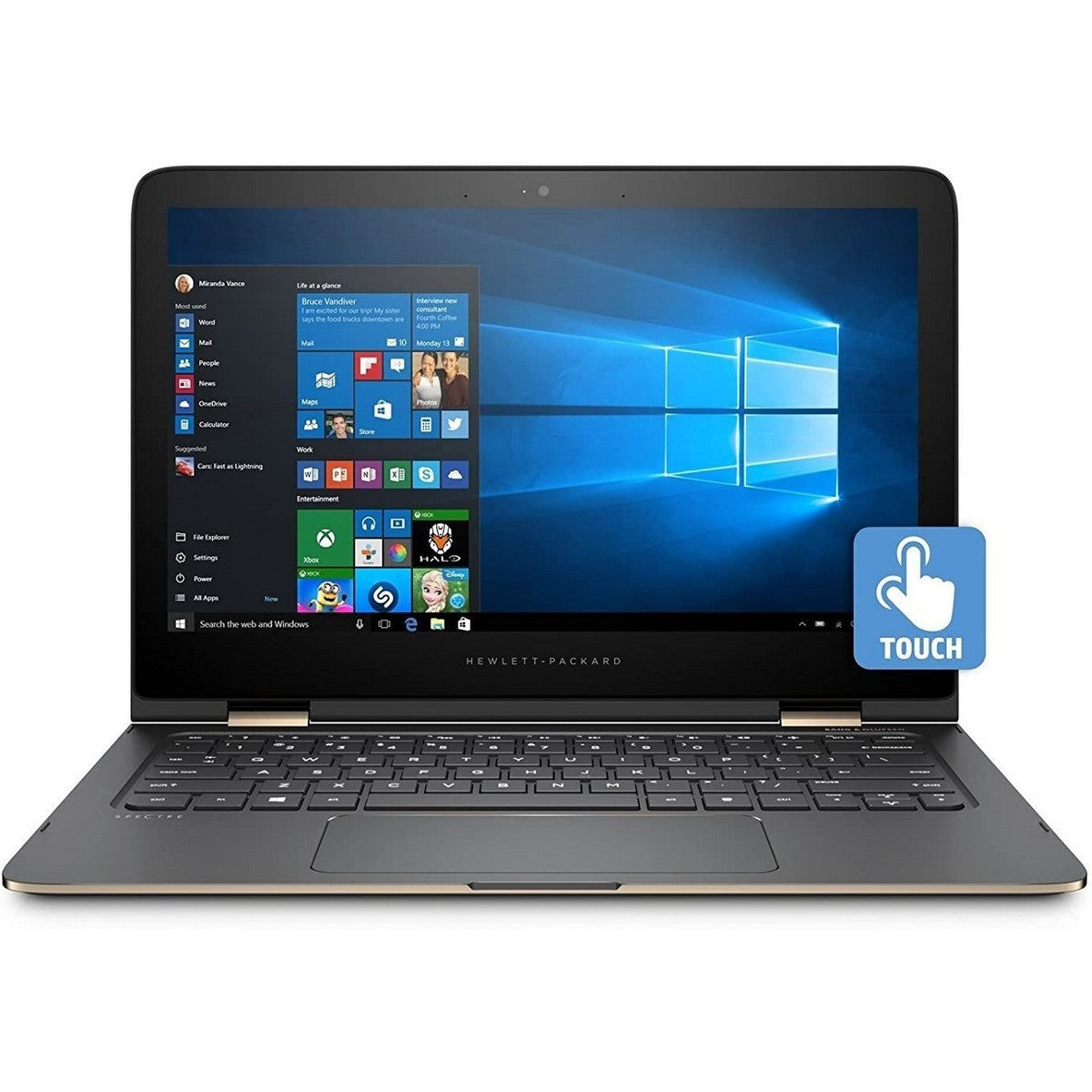 HP Spectre 13 X360 2 in 1 Laptop 13.3'' FHD IPS , Intel Core i7 i7-1065G7 1.3 GHz up to 3.9 GHz 8 MB cache, 16GB RAM, Intel Iris Plus GPU, 1TB SSD, Touchscreen, Windows 10, English Keyboard, Black NIGHT