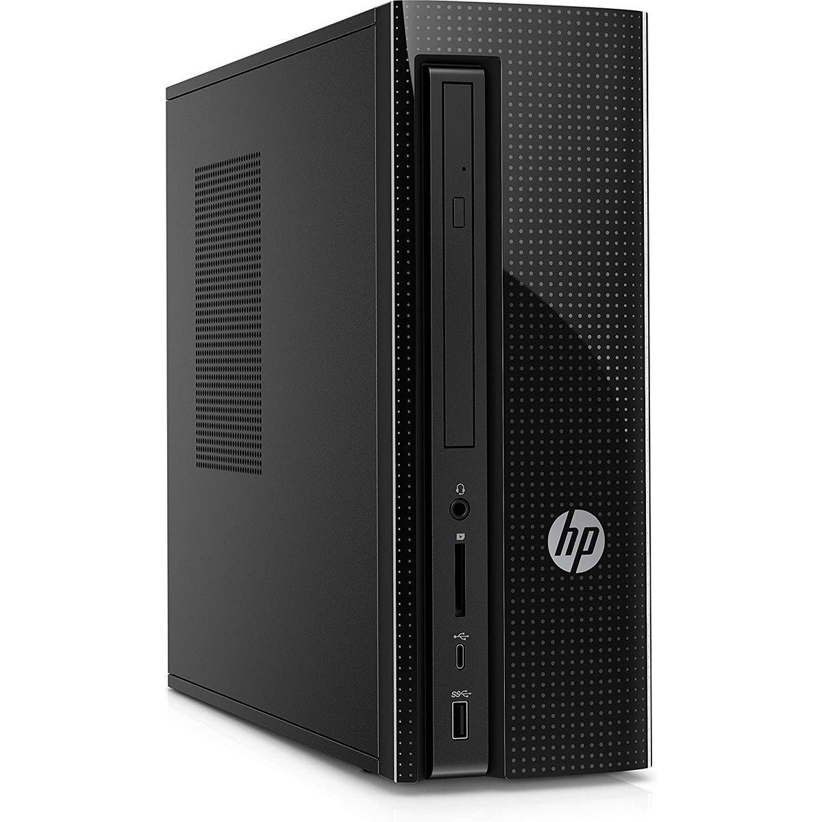 HP Slimline 270-p043w Slim Desktop , Intel Core i3 i3-7100 3.90GHz 3MB Cache, 8GB RAM, Intel HD GPU, 1TB HDD, Windows 10, Black