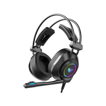 AULA S600 Wired RGB Gaming Headset,