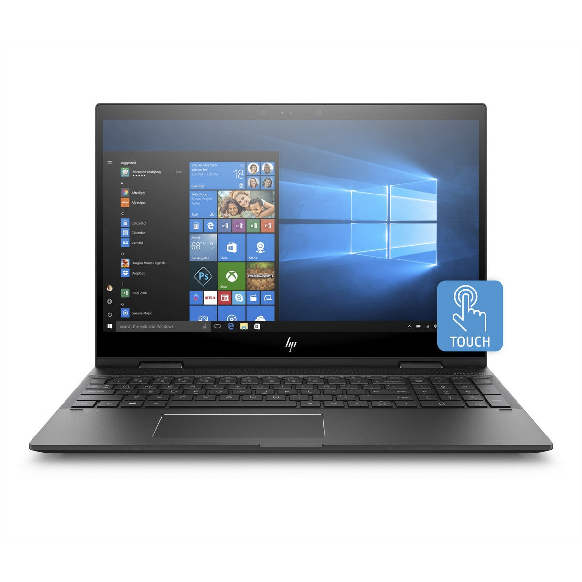 HP Envy 15m-cp0011dx X360 2 in 1 Laptop 15.6'' FHD IPS , Amd Ryzen 5 Ryzen™ 5 2500U 2.0GHz up to 3.6GHz 6MB cache, 8GB RAM, AMD Radeon 8GB GPU, 128GB SSD, Touchscreen, Windows 10, English Keyboard, Dark ash silver
