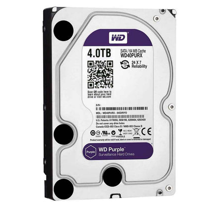 Used Western Digital 4TB Purple HDD