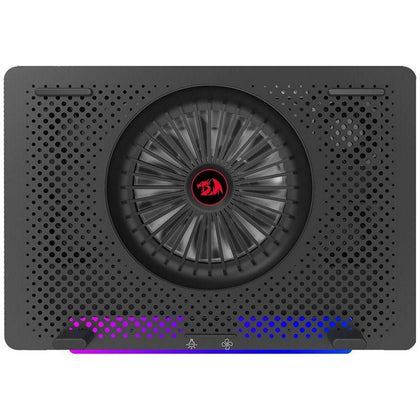 Redragon IVY GCP500 Laptop Cooler - Support 12 to 15.6 Inch - 2 USB Port - Fan Speed Control - Aluminum Panel Faster Cooler - RGB Light Mode - Two Phone Holder