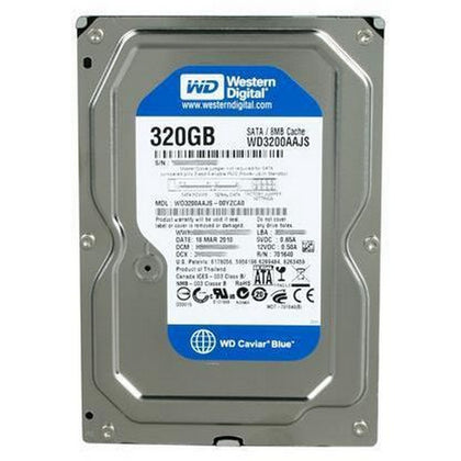 Used Western Digital 320 GB Internal HD Hard Disk / 7200rpm - WD3200AAJS