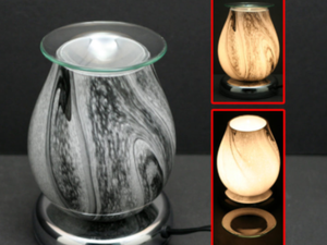 Glass Touch Lamp with Wax Holder