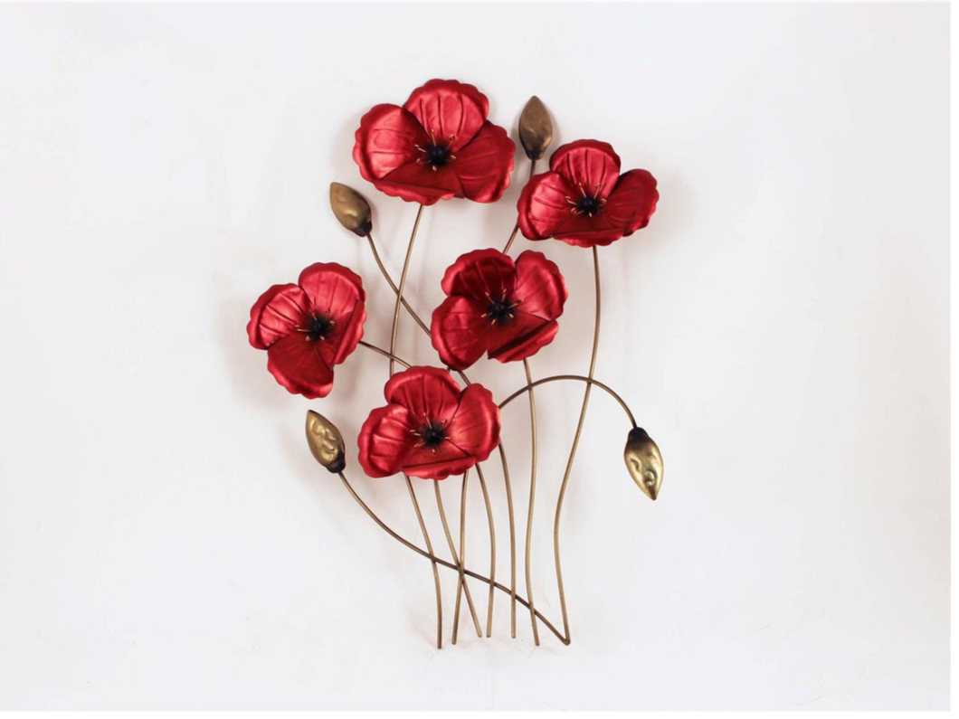 Red Poppy Wall Art - S