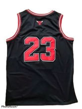 Load image into Gallery viewer, Black NBA Bulls Jersey