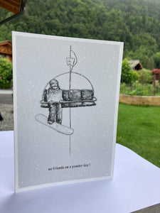 Black & White Greeting Cards by Johny Midnight 7 pack