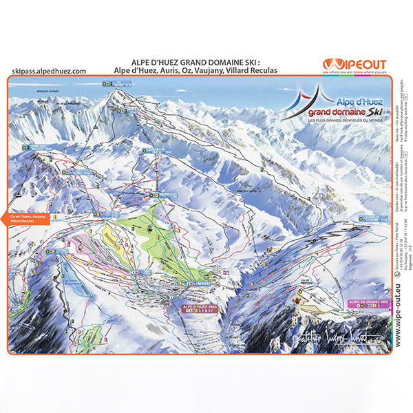 Alpe d'Huez Wipeout Map