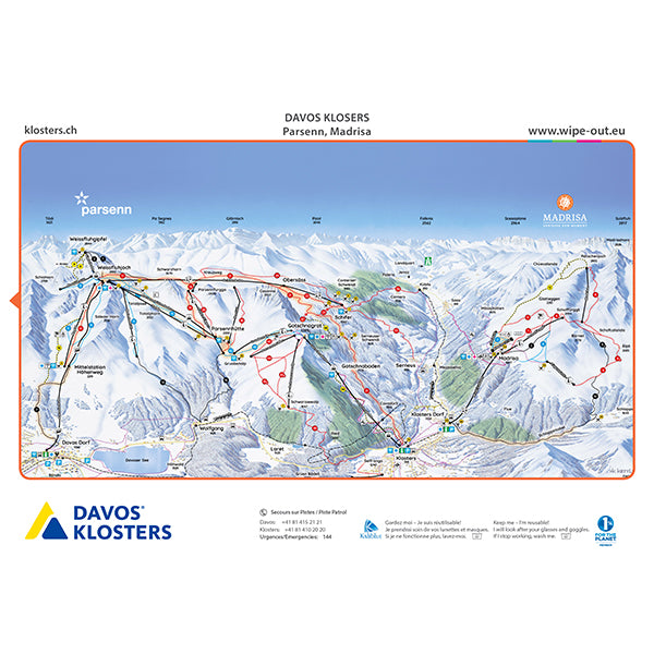Davos Klosters 'Wipeout' Plan des Pistes