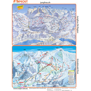 Jungfrau Ski Region Wipeout Piste Map