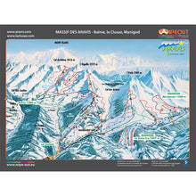 Load image into Gallery viewer, Massif des Aravis / Bornes Aravis Wipeout Map