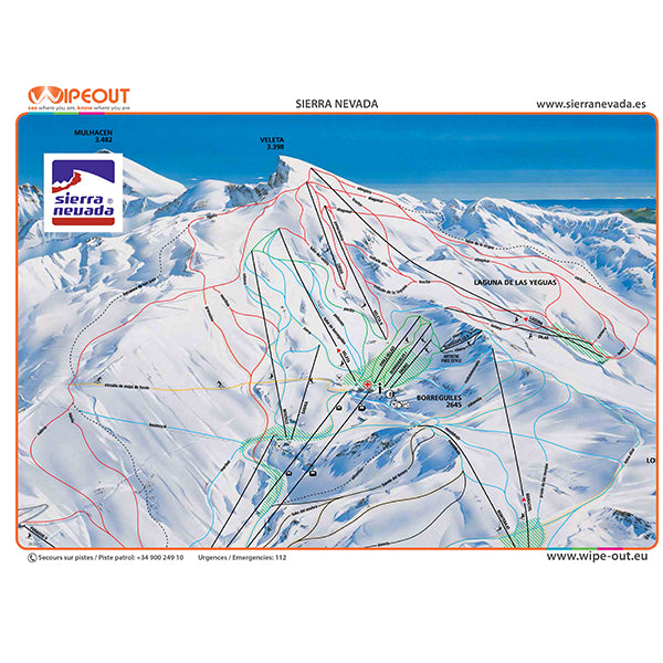 Sierra Nevada Wipeout Map