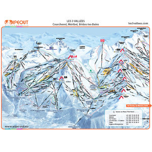 Three Valleys Wipeout Map