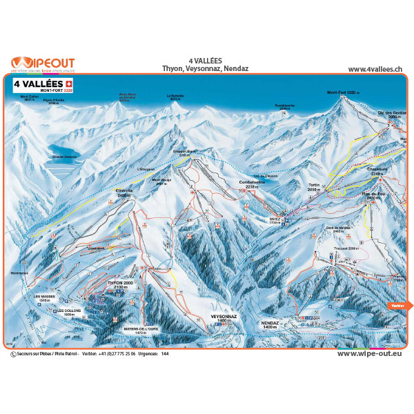 Verbier 4 Valleys Wipeout Map