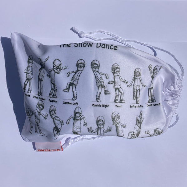 Goggle Bag printed with SnowDance Illustration