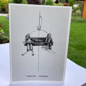 Black & White Greeting Cards by Johny Midnight