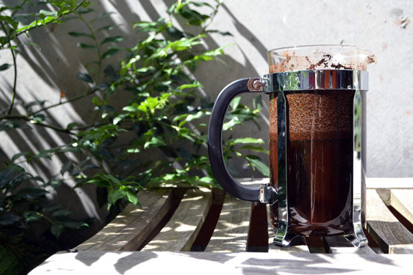 Unfiltered cold brew coffee