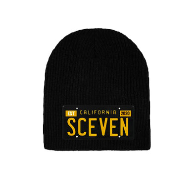 Sceven License Plate Beanie  <br> 15 Entries