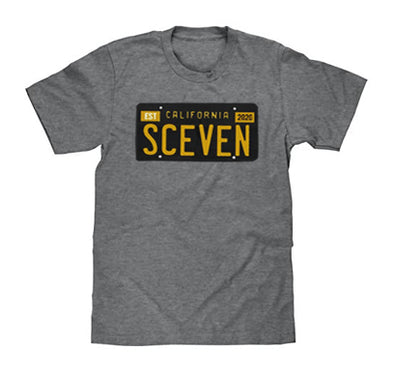 Sceven License Plate T-Shirt  <br> 30 Entries