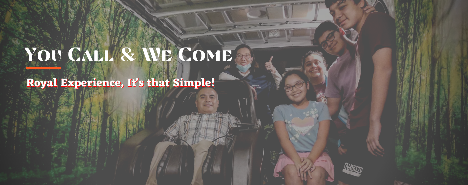 Today, My family and I, We very excited to announce our latest project ever here in Florida!!! We are the FIRST and the ONLY ONE massage chair company offering massage chair demonstration at your preferred location!