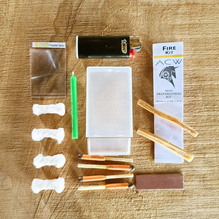 mini fire starting survival kit, acw tactical