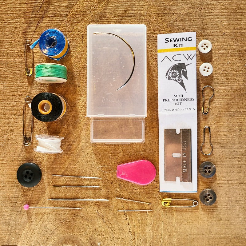 mini sewing mending survival kit, acw tactical adventure gear
