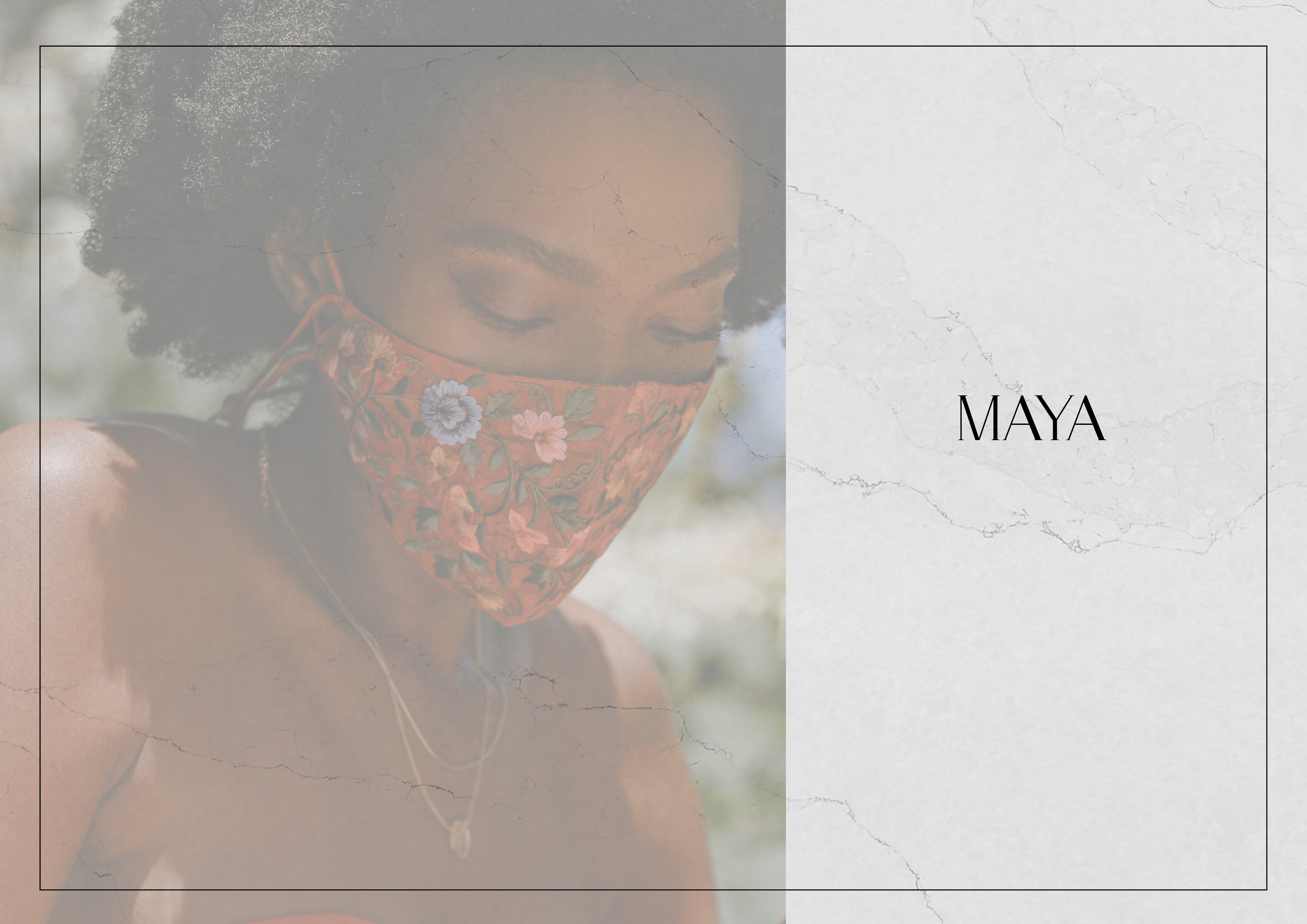 Handcrafted Fashionable Face Mask/Covering by Namaskaya