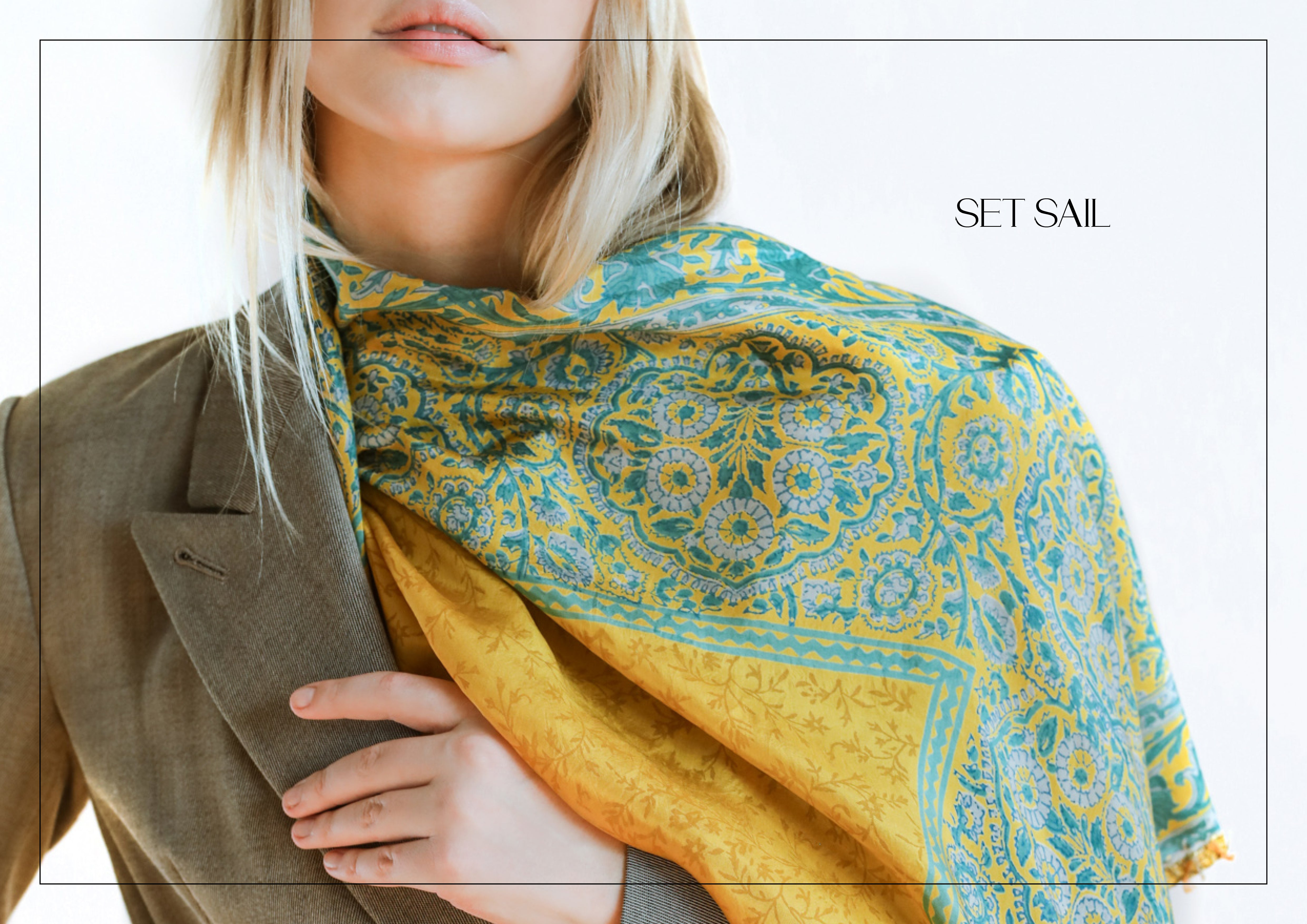 Handcrafted Fashionable Silk Scarves by Namaskaya