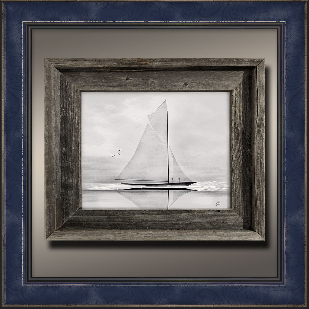 Schooner, Framed Original Art Print