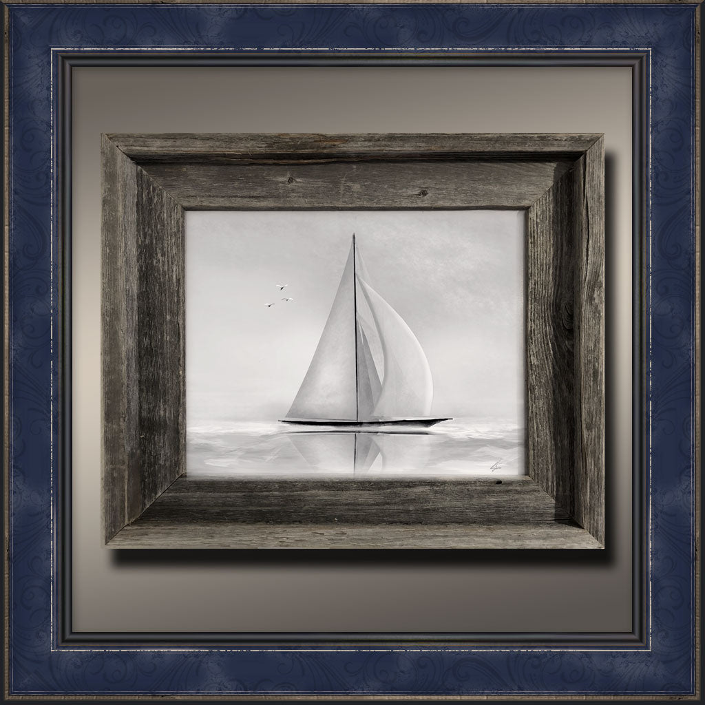 Sloop, Framed Original Art Print