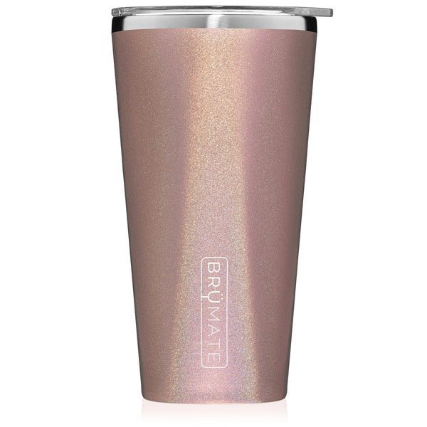 BruMate, Imperial Pint Glitter Rose Gold