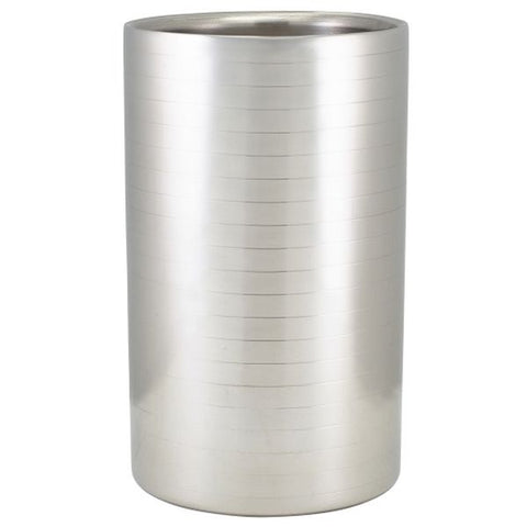 Ribbed Stainless Steel Wine Cooler
