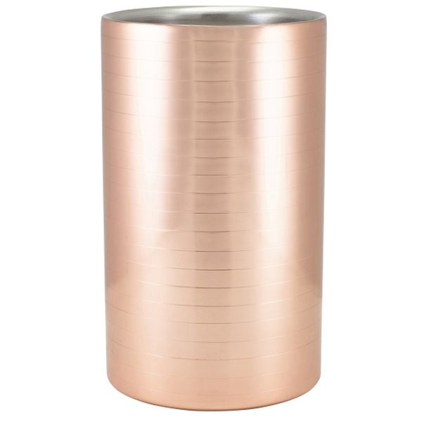 Ribbed Copper Plated Wine Cooler