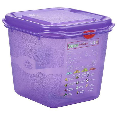 Allergen GN Storage Container 1/6 150mm Deep 2.6L