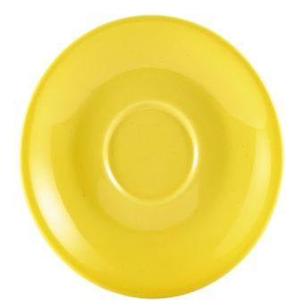 Porcelain Yellow Saucer 12cm