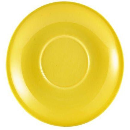 Porcelain Yellow Saucer 16cm