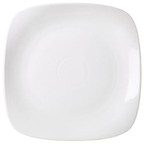 Porcelain Rounded Square Plate 25cm/9.75""