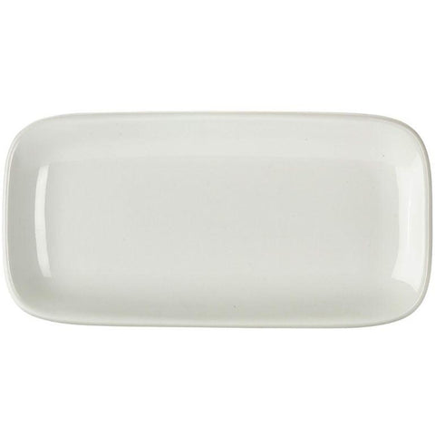 Porcelain Rounded Rectangular Plate 24.5 x 12.5cm/9.75 x 5""